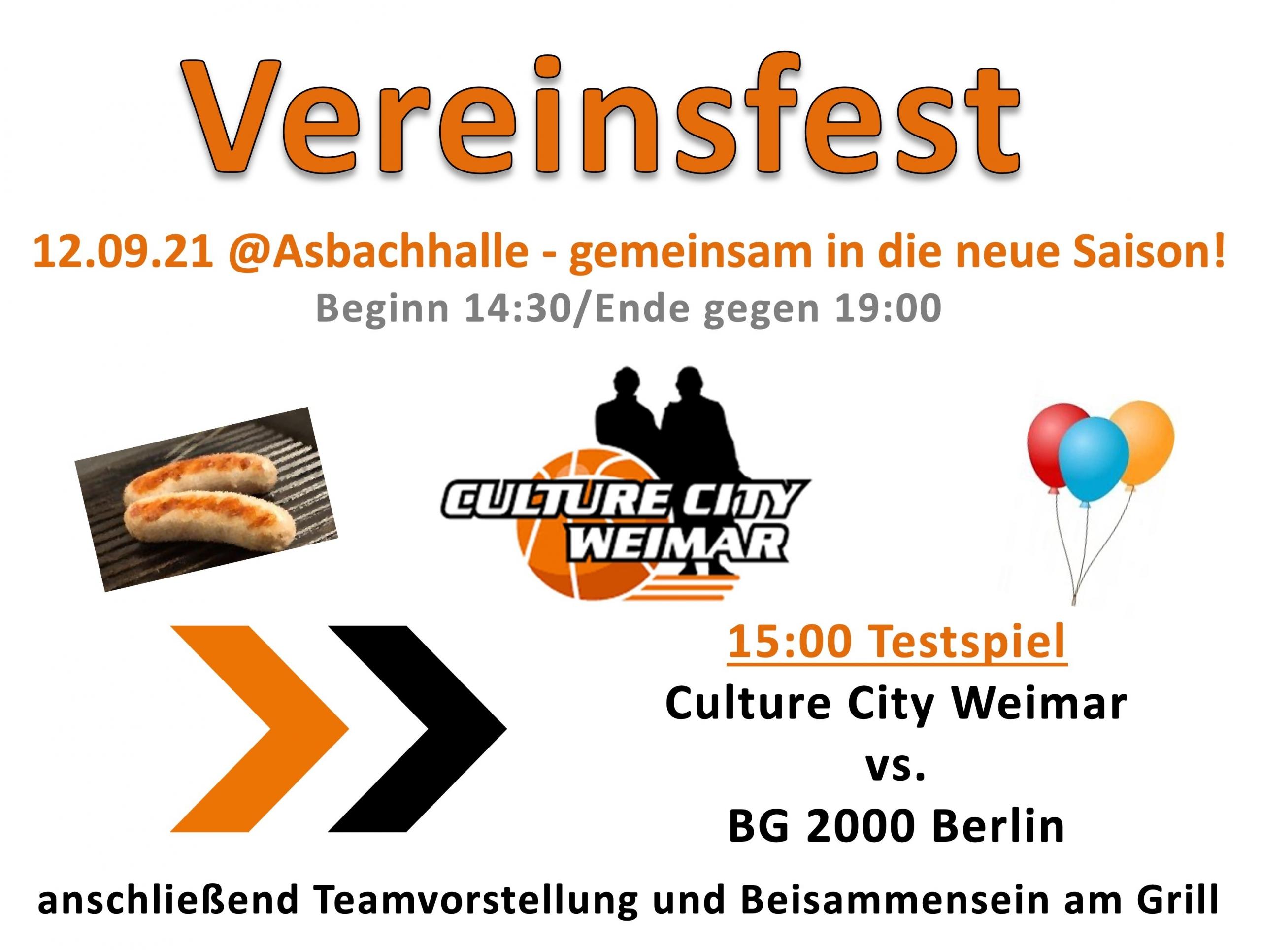 Saisoneröffnung der Basketballer von Culture City Weimar